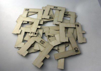 Elementy makiety ze sklejki modelarskiej