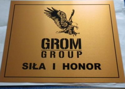 Logo grawerowane